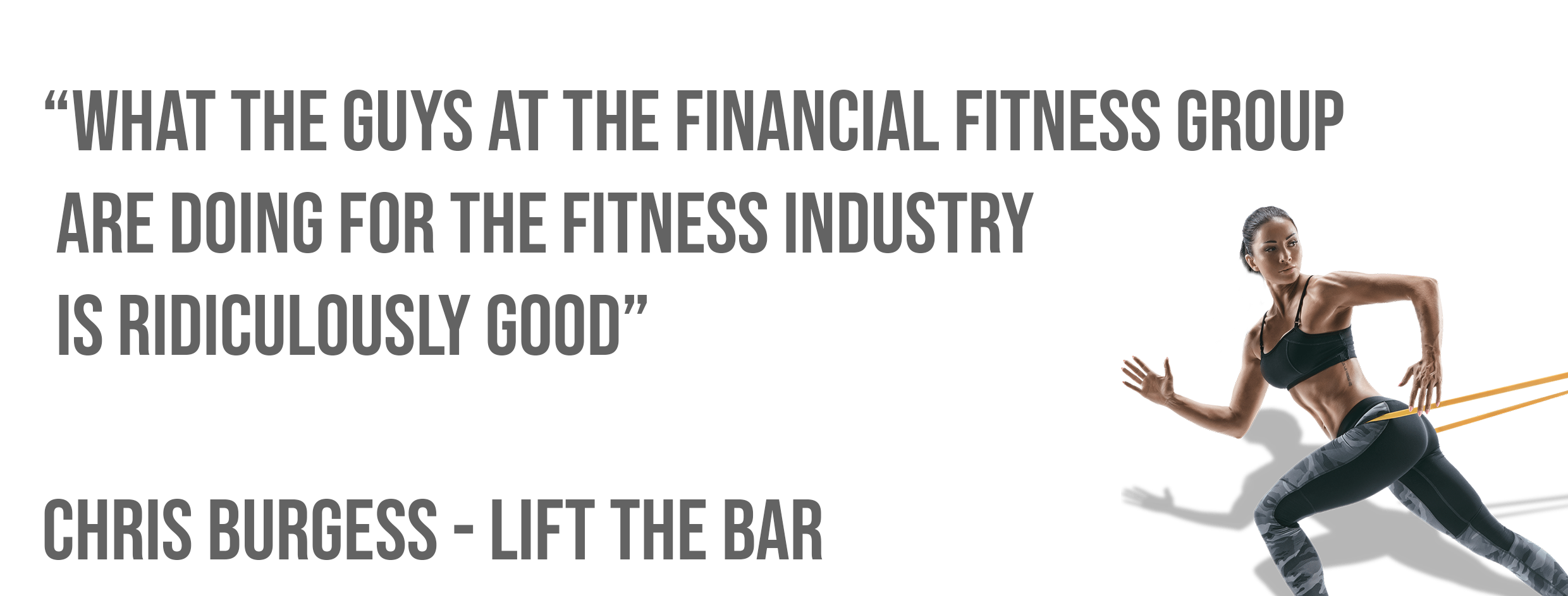 Lift The Bar Testimonial for The Financial Fitness Group